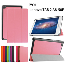 Tablet Leather Case Stand Cover PU For 8inch Lenovo TAB 2 A8 Tablet PC