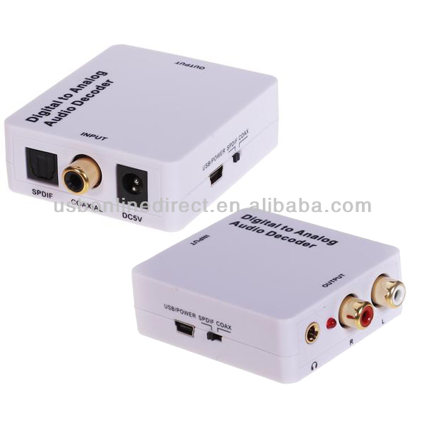 Mini audio converter digital optical to analog decoder for set-top box