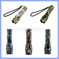 XML T6 1000 Lumens Tactical LED Flashlight 5 Modes Camouflage Torch Zoomable Focus