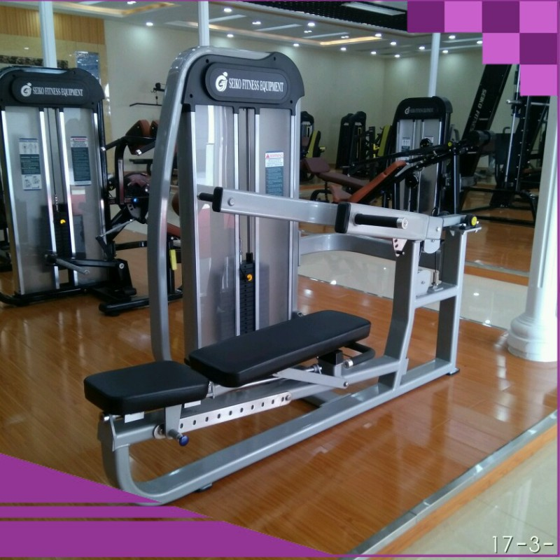 chest exercise equipment commercial gym with shoulder press