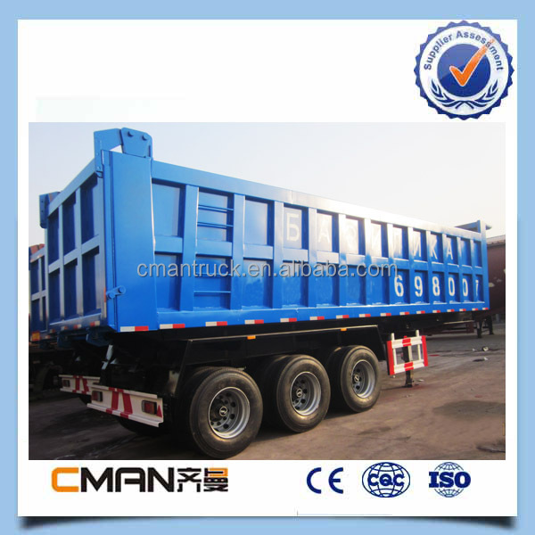 hydraulic system large packing box 40-60 ton dump truck trailer for transportation