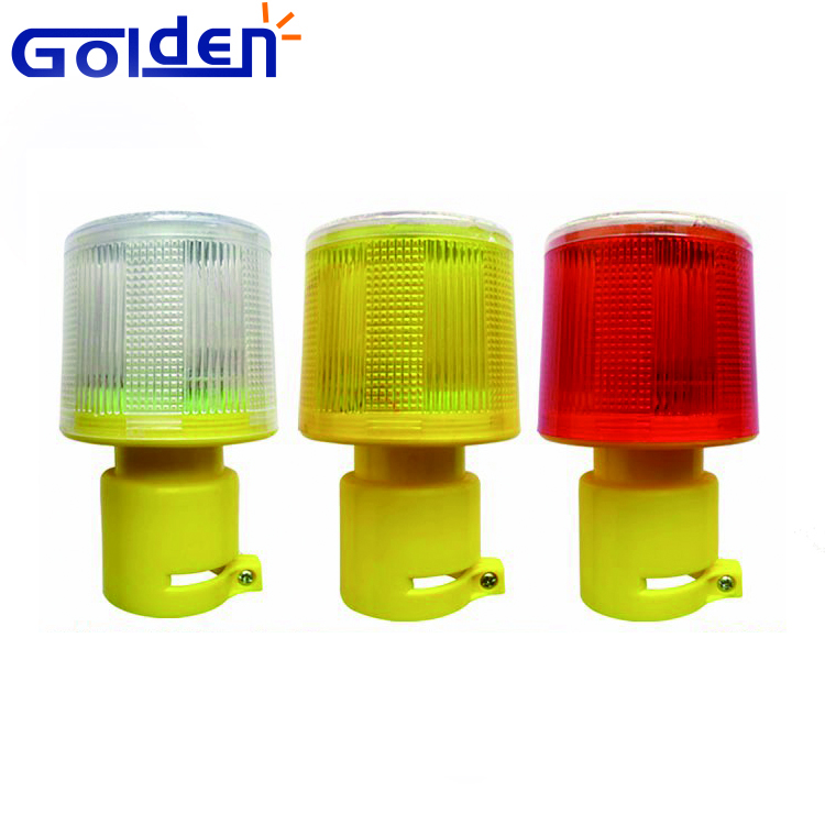 Amber Road construction Solar Powered Traffic cone emergency Warning Light LED Safety Signal Beacon
