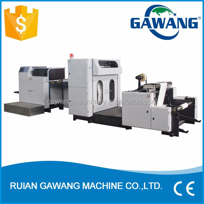 Manufacturer Supplier New Design High Quality Full Automatic Multifunction Paper Food Bag Making Machine