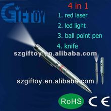 200mw red laser pointer pen with knife