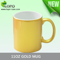 Personalized 11oz Gold silver Sparkling Sublimation Ceramic Mug