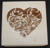 2015 high quality decorative unfinished carved small wooden gift box