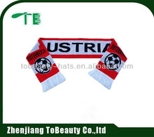 wholesale magic 100% cashmere knit football fan scarf