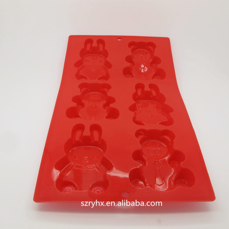 High quality custom professional beautiful funny silicone cake mold