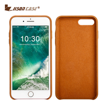China Factory Litchi Patter Real Leather Case for iPhone 7 Back Cover Case Custom Logo With Metal Button