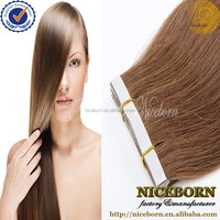 Wholesale Hot Beauty 4A Virgin indian remy tape hair extensions tape in hair skin weft extensions