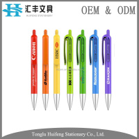 color ball pen promotion plastic
