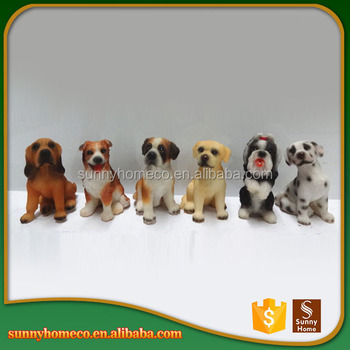 OEM New Arrival Good Quality Lifelike Resin Ornaments Dog Figurines
