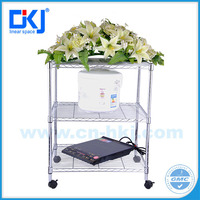 2016 fashion design chrome plated wire display racks