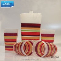 plastic water jug with 4 cups WH-808 5 pcs plastic water jug set Plastic Pitcher with handle and plastic mugs