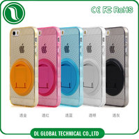 mobile accessories 360 degree rotation kickstand mobile covers for iphone 5 case clear TPU PC Kickstand mobile covers