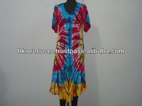 Rayon Tie Dye Dress