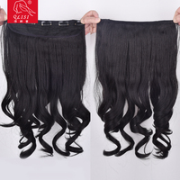 New style hot fashion curly tape hair extension long ponytail half wig for cheap
