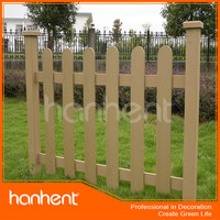 Cheap wood plastic decorative garden wood rail fence