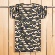 New Wholesale Custom Printed Fashion Logo Camo Military Tshirt