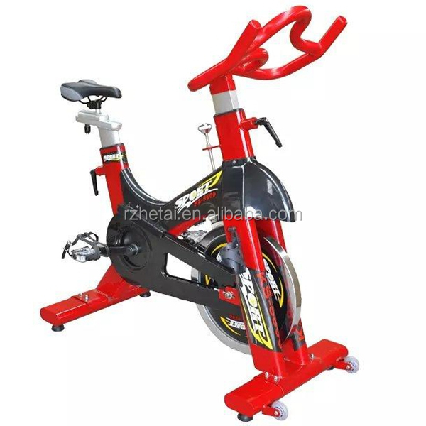 professional custom matt PVC dip coating iron fitness spin bike