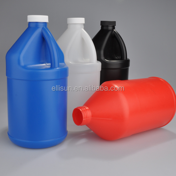 multi color 1L hdpe plastic cylindrical water bottle with handle