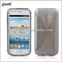 X Shape TPU Rubber Skin Case For Samsung S4 Mini I9190