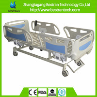 BT-AE117 Luxury abs collapsible rail 3 function electric hospital bed