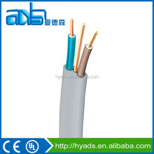 2016 Fire resistance 4mm flat PVC wire 6242y