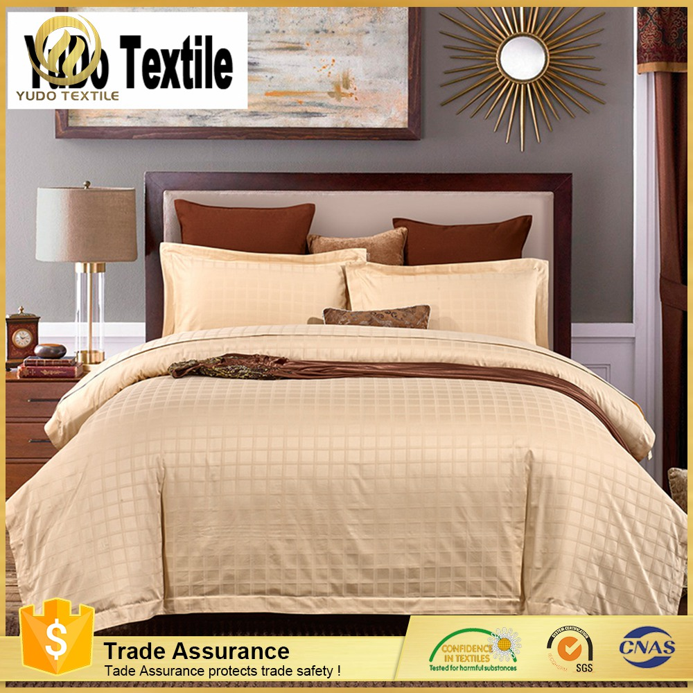 Trade assurance queen jacquard 100% cotton bedding set