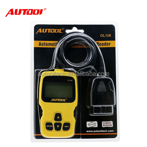 Free shipping AUTOOL OL126 OBD/EOBD + CAN Auto Engine Diagnostic Tool obd2 japanese car Engine scanner