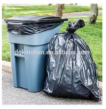 HDPE / LDPE Black Trash Bag Heavy Duty Garbage Bags 55 gallon trash bags