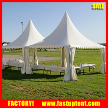 5x5m Chinese PVC pagoda tent garden gazebo with curtains