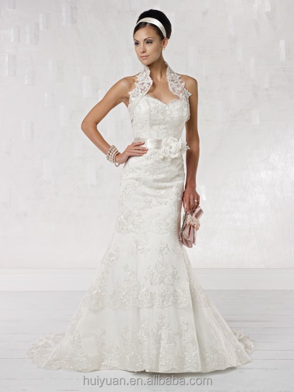 detachable strap appliqued flower new model 2013 wedding dress