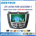 ZESTECH car dvd gps player bluetooth TV 8 inch car dvd gps for Honda Accord 7 car dvd gps player High quanlity