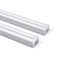 Supermarket aluminum housing pc cover double t5 integrated tube lighting industrial lamp 2ft 3ft 4ft 5ft 6ft 8ft