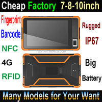 Cheap Factory 8inch, 8 inch, 8-inch water-proof tablet pc wifi and GPS tablet rugged with barcode scanner NFC fingerprint reader