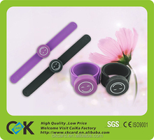 Wholesale Silicone Slap Bracelet Slap Wristband,Watch Wristband