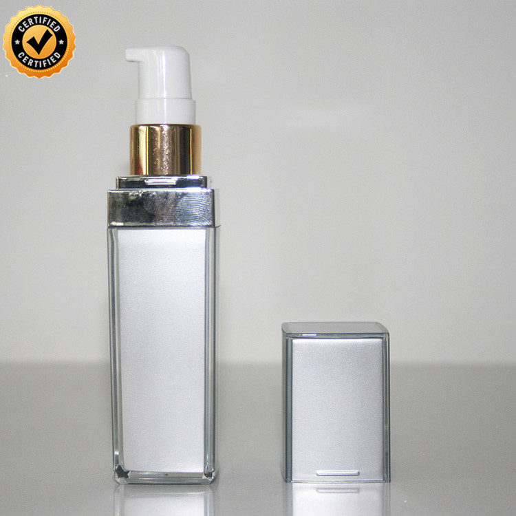 face and body lotion bottle 100ml square acrylic pump perfume