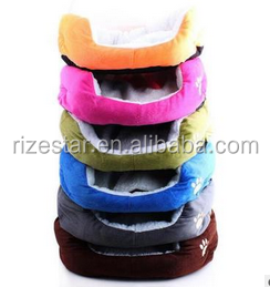 Pet supplies manufacturers selling candy color square teddy dog kennel autumn winter warm pet cat nest nest dog bed pad