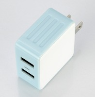 Intelligent inspection 5V 3.1A 2 Port US folding PLUG mobile phone USB Wall/Travel Charger for iPhone iPad