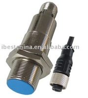 M18 NPN/PNP Capacitive Proximity Sensor Switch, Flush/Shielded With M12 Connector/Plug (IBEST)