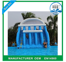 Cheap inflatable water slides for sale, inflatable water slide with pool