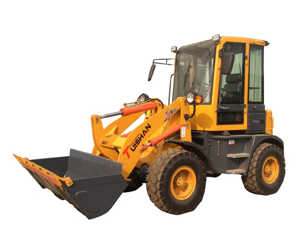 1200kg 0.7 cbm hydraulic tractor compact wheel loader with Weichai engine 490