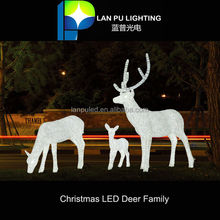 Christmas decoration led motif led manufactory led reindeer family