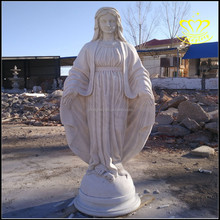 Outdoor Garden decor Blessed Mother Virgin Mary Lady of Church White marble Statue resin sculpture