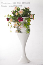 Artificial flower arrangement stand wedding table centerpieces,planters for flower arrangement