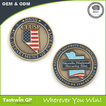 Manufacture Cheap Metal Souvenir Antique Silver Gold USA Custom Challenge Coin