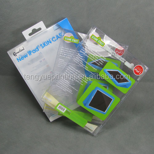 custom printed plastic packaging box for ipad case, electronic device