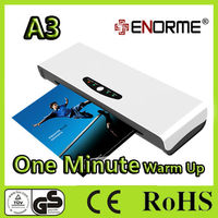 A4 or A3 size office hot cold Pouch photo laminating machine (1 minute warm up)