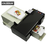 Automatic 6 color inkjet CD/DVD/ID PVC card printer for EPSON l800 T50 with tray with CE certificate
